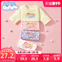 T-shirt baleno junior 110cm 120cm 130cm 140cm 150cm female summer Short sleeve Crew neck lady There are models in the real shooting nothing cotton rainbow Cotton 100% Class B Sweat absorption Spring 2021 Chinese Mainland