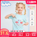 T-shirt baleno junior 110cm 120cm 130cm 140cm 150cm 160cm female summer Short sleeve Crew neck leisure time There are models in the real shooting nothing cotton printing Cotton 100% Class B Sweat absorption Spring 2021 Chinese Mainland
