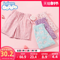 trousers baleno junior female 100cm 110cm 120cm 130cm 140cm 150cm 90B mint 54r light pink P54 light purple 6r3 deep pink 91P deep purple summer shorts princess There are models in the real shooting Sports pants Leather belt middle-waisted cotton Don't open the crotch Cotton 100% Class B Spring 2021