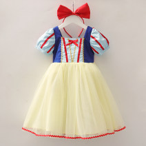Dress Snow white skirt with bows and hair bands, long sleeve snow white skirt with hair bands female Other / other 90cm,100cm,110cm,120cm,130cm,140cm Cotton 100% summer princess Short sleeve Cartoon animation cotton A-line skirt Chinese Mainland Zhejiang Province Huzhou City