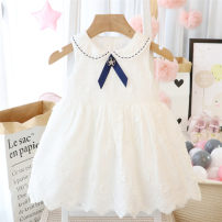 Dress White, spring and Autumn female Other / other Recommended height 73-80cm tag 73, recommended height 80-85cm tag 80, recommended height 85-90cm tag 90, recommended height 90-95cm tag 100, recommended height 95-100cm tag 110 Other 100% summer princess Skirt / vest Solid color other Splicing style