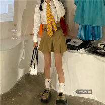 Fashion suit Spring 2021 S, M Shirt with bow tie, skirt with belt