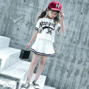 suit the post-00s generation White, Navy 110cm,120cm,130cm,140cm,150cm,160cm,170cm female summer college Short sleeve + skirt 2 pieces routine There are models in the real shooting Socket nothing letter cotton 20210328-006 Class B Cotton 100% Chinese Mainland Zhejiang Province Huzhou City