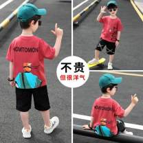 suit Other / other 110cm,120cm,130cm,140cm,150cm,160cm male summer Korean version Short sleeve + pants 2 pieces routine There are models in the real shooting Socket nothing Cartoon animation cotton children Expression of love Class B Three, four, five, six, seven, eight, nine, ten, eleven, twelve