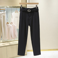 Casual pants black S,M,L,XL Summer 2021 trousers Natural waist Versatile routine 25-29 years old 1E2246 pocket cotton