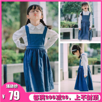 Dress Denim female Other / other 3(100),4(110),6(120),8(130),10(140),12(150),14(155) Cotton 100% spring and autumn cotton A-line skirt