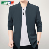 Jacket Cartelo / Cartelo crocodile Fashion City Z59061 Navy z59061 blue grey z59061 black 170/M 175/L 180/XL 185/XXL 190/XXXL thin standard Other leisure spring KDL2020-Z59061 Polyester 100% Long sleeves Wear out stand collar Business Casual middle age routine Zipper placket Straight hem Solid color