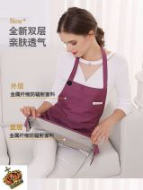 Radiation protection apron Double protection] grey metal fiber + 100% silver, double protection] purple metal fiber + 100% silver, double protection] pink metal fiber + 100% silver Other / other Surface: metal blended fiber; liner: silver fiber Average size Four seasons