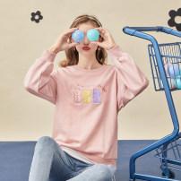 Women's large Spring 2021 Pink Large XL, 2XL, 3XL, 4XL, 5XL Sweater / sweater street Socket Long sleeves 10. DAA / Xiada Europe and America