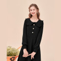 Women's large Spring 2021 black Large XL, 2XL, 3XL, 4XL singleton  street Straight cylinder moderate Long sleeves 10. DAA / Xiada Medium length Europe and America