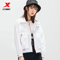 Sports windbreaker female XTEP / Tebu White, purplish red, black, light khaki Xs, s, m (adult), l, XL, 2XL Spring 2021 stand collar zipper Brand logo Sports & Leisure Life Series Windbreak