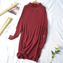 Wool knitwear Spring 2021 Long sleeves singleton  Socket other 31% (inclusive) - 50% (inclusive) Regular routine commute Straight cylinder Low crew neck routine Solid color Socket Korean version 25-29 years old World works Pocket, thread
