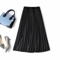 skirt Spring 2021 Average size Dark grey, black, dark green, brown longuette commute High waist Pleated skirt Solid color Type A 35-39 years old BF21022204 More than 95% Boglia / boglia polyester fiber Pleats Simplicity
