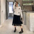 skirt Spring 2021 S,M,L black longuette commute High waist A-line skirt Solid color Type A LS012314 51% (inclusive) - 70% (inclusive) other Boglia / boglia other Lace Simplicity