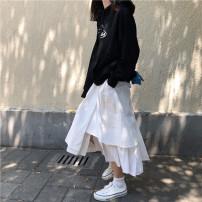 skirt Autumn of 2018 Average size Black, white