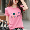 T-shirt S,M,L,XL,2XL,3XL Summer 2021 Short sleeve Crew neck Self cultivation Regular routine commute cotton 96% and above Korean version originality letter Pinge Dixin printing