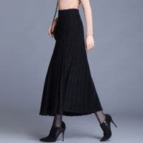 skirt Winter 2020 Average size black Short skirt commute A-line skirt Solid color Type A 35-39 years old 81% (inclusive) - 90% (inclusive) other other