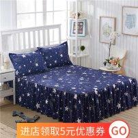 Bed skirt 1.2x2m bed skirt three piece set, 1.5X2m bed skirt three piece set, 1.8x2m bed skirt three piece set, 2x2.2m bed skirt three piece set, a pair of pillowcases, 1x2m bed skirt three piece set Acetate fiber Night velvet Geometric pattern