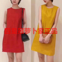 Dress Spring of 2019 Red, yellow 2,4,6,8