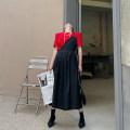 Dress Summer 2021 Green, black S, M Mid length dress singleton  Sleeveless street High waist Solid color zipper A-line skirt camisole Type A