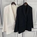 suit Autumn 2020 White, black 0,2,4,6 routine tailored collar