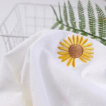 T-shirt White chrysanthemum, black chrysanthemum, pink chrysanthemum, white face, black face, gray face S,M,L,XL,2XL,3XL,4XL,5XL Summer 2021 Short sleeve Crew neck easy Regular routine cotton 96% and above Ocnltiy TY1860