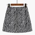 skirt Summer 2021 S,M,L,XL Zebra pattern Short skirt commute High waist other stripe Type A 18-24 years old 51% (inclusive) - 70% (inclusive) other Ocnltiy polyester fiber zipper Korean version