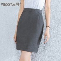 skirt Summer 2020 32/XS 34/S 36/M 38/L 40/XL 42/XXL 44/XXXL 46/XXXXL Short skirt Versatile Natural waist Suit skirt Solid color Type H 25-29 years old 51% (inclusive) - 70% (inclusive) other Vinssy / Yunqin polyester fiber Polyester 70% viscose 28% polyurethane elastic 2%