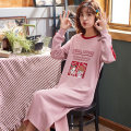 Pajamas / housewear set female Other / other cotton Long sleeves Simplicity pajamas spring routine Crew neck Cartoon animation Socket youth pure cotton Middle-skirt