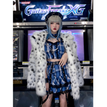 Fashion suit Winter 2020 M, L Top with neck sling, skirt with buttocks (4.20 Lu xufa), spotted coat (one size), free set: leg cover (piece) Other / other 81% (inclusive) - 90% (inclusive)