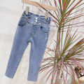 trousers Other / other female Denim x (single, standard size), denim smile (single, stock standard size) spring and autumn trousers Korean version There are models in the real shooting Jeans Leather belt middle-waisted Denim Don't open the crotch Class B