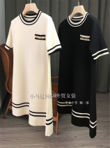 Dress Spring 2021 White, black S,M,L,XL Middle-skirt singleton  Short sleeve commute middle-waisted Solid color Socket other routine Type X Gouhua hollow More than 95% knitting polyester fiber