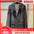suit Spring 2021 Black, Khaki Two, three, four, five Long sleeves routine Straight cylinder tailored collar Single breasted commute routine lattice 5400546-1023811-001 71% (inclusive) - 80% (inclusive) polyester fiber Brother amashi Button, pocket