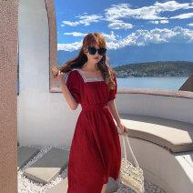 Dress Summer 2020 Black, cherry red S,M,L U.VN U200611