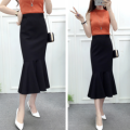 skirt Spring of 2019 XS,S,M,L,XL,2XL,3XL,4XL black longuette commute High waist Ruffle Skirt Solid color Type A 18-24 years old 51% (inclusive) - 70% (inclusive) other cotton Ruffles, folds, swallow tails Retro