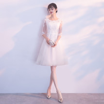 Dress / evening wear Annual meeting performance of wedding and adult party company XXLXXXLSMLXL Korean version Short skirt middle-waisted A-line skirt