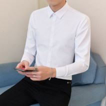 shirt Business gentleman Others S,M,L,XL,2XL,3XL,4XL,5XL routine Pointed collar (regular) Long sleeves Self cultivation Other leisure Four seasons youth Polyester 60% cotton 40% Business Formal  2020 Solid color No iron treatment polyester fiber