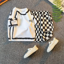 suit Other / other Gray, white, black neutral summer Korean version Short sleeve + pants 2 pieces routine No model Socket nothing Cartoon animation other children Expression of love 21X-TZ0036 Class B Other 100% Chinese Mainland