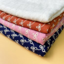 Fabric / fabric Off white, sapphire blue, light purple, yellow, dark pink, bean paste red, light green, light apricot, dark black blue, light pink other Cotton embroidery Chinese Mainland
