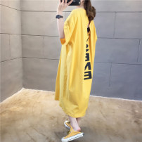 T-shirt Sy9733 yellow sy9733 white sy9733 black M L XL 2XL Spring 2020 Short sleeve Crew neck easy Medium length routine commute cotton 31% (inclusive) - 50% (inclusive) 18-24 years old Korean version originality Alphanumeric Siyayi S9733 printing New polyester 65% cotton 35%