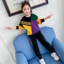 suit Other / other 110cm,120cm,130cm,140cm,150cm,160cm,170cm female spring and autumn motion Long sleeve + pants 2 pieces Thin money There are models in the real shooting Socket nothing Solid color cotton elder Learning reward Class B Cotton 57% polyester 43% Chinese Mainland Guangdong Province