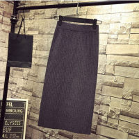 skirt Autumn of 2018 Medium and long Black, dark green, grey, khaki longuette commute High waist skirt Solid color Type H 18-24 years old J76-191 31% (inclusive) - 50% (inclusive) knitting cotton Korean version