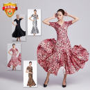 Modern dance suit (including performance clothes) Qingqing Jiamei Dance Dress Waltz, tango, Foxtrot, trot female S. M, l, XL, XXL, XXXL, larger other B-06