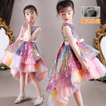 Dress female Doveark 110cm,120cm,130cm,140cm,150cm,160cm,170cm Cotton 76% polyester 24% summer princess Skirt / vest other other Irregular Class B 2, 3, 4, 5, 6, 7, 8, 9, 10, 11, 12 years old Chinese Mainland Guangdong Province Shantou City
