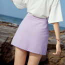 skirt Spring of 2019 S M L XL XXL Purple blue off white black white pink Short skirt commute High waist A-line skirt 18-24 years old XZF1010-5 More than 95% Denim Immortal purple fan cotton Korean version Cotton 98% other 2% Pure e-commerce (online only)