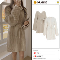 Fashion suit Winter 2020 S,M,L,XL Beige dress, one size sweater 18-25 years old