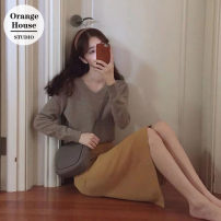 Fashion suit Winter of 2019 S. M, l, XL, one size fits all Skirt, oat sweater, suit 18-25 years old Other / other