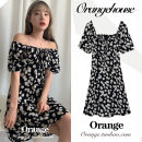 Dress Summer 2020 black S,M,L,XL Short skirt singleton  Short sleeve Sweet One word collar High waist Broken flowers A-line skirt other Others 18-24 years old Type A Other / other Bow, print JZW6333 college