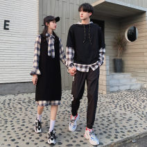 Sweater / sweater Autumn of 2019 S M L XL XXL XXXL Long sleeves routine Socket singleton  routine Hood easy commute routine lattice 18-24 years old 91% (inclusive) - 95% (inclusive) Trend Castle Korean version cotton Cotton 95% polyester 5% Pure e-commerce (online only)