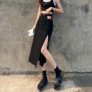 skirt Summer 2021 S M L XL black longuette commute High waist Denim skirt Solid color Type A 18-24 years old BB21#3.30# More than 95% Denim Borapora / buropola cotton Button Simplicity Cotton 98% other 2% Pure e-commerce (online only)